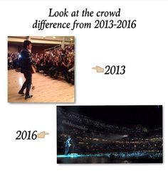 I know and I wish I could of been in the 2013 crowd bc I could've been closer by the stagebut I'm gonna be apart of 2017 and I'm so excited