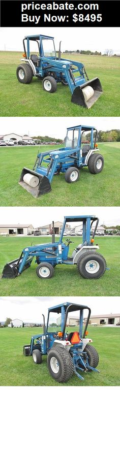 Heavy-Equipments: 1990 FORD 1520 COMPACT TRACTOR, 4WD, 22 HP, SIMS CAB, RHINO LOADER, 1488 HR - BUY IT NOW ONLY $8495