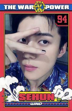 Sehun postcard in war album Exo Kai, Kyungsoo, Chanyeol, Exo Stickers, 5 Years With Exo, Sehun Cute, Types Of Boyfriends, Exo Album, Exo Official