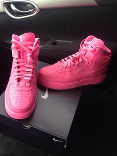 Pink Air Force 1's nike Sneakers