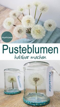Pusteblumen haltbar machen – DIY – nurrosa, The Elegance Salon was a well known booth at our Tumble Carnival. Diy Cadeau Maitresse, Earthy, Diy Gifts, Diy Presents, Diy And Crafts, Handmade Crafts, Projects To Try, Crafty, Birthday