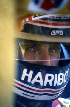 Race face … Alain Prost, ELF Renault 1983 World Championship Alain Prost, Gerhard Berger, Band On The Run, Racing Helmets, Auto Racing, F1 Drivers, Helmet Design, Car And Driver, Formula One