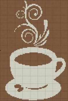 Бесплатные схемы вышивки чашки с кофе
