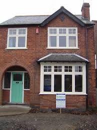 windows for semi detachedhouse - Bing images Front Doors With Windows, Upvc Windows, Wooden Windows, Sash Windows, House Windows, Style At Home, 1930s House Exterior, Bay Window Exterior, House Extension Plans