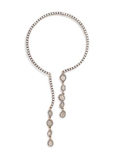 Olivia Palermo Guest Bartender Collection. A structured open collar with swingy gem lariats.