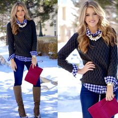 A classic layered look is on the blog today. I am in love with this sweater! There are so many great colors too ❄️⛄️