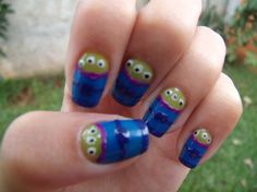 """Toy Story"" themed nails!  ""The Claw!"""