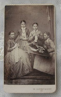 vintage photo of Czech women knitting --- @Stephanie Close Lange thought of you :)