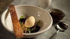 Kaymak ice-cream, chocolate soil, simit tuille recipe : SBS Food