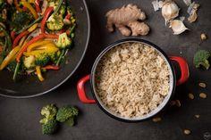 Ρύζι καστανό με stir-fry λαχανικών: εύκολο και υγιεινό για τις καθημερινές - madameginger.com Stir Fry, Fries, Recipes, Food, Image, Recipies, Essen, Meals, Ripped Recipes