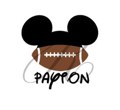 Personalized Football Disney Mickey / Minnie by RandRCustomDesigns, $5.99 DIY