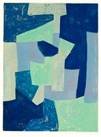 Composition bleue et verte von Serge Poliakoff