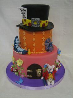 Amy Beck Cake Design - Chicago, IL - Mad Hatter birthday cake - #amybeckcakedesign
