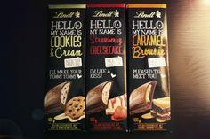Lindt HELLO COOKIES & CREAM - HELLO CARAMEL BROWNIE - HELLO STRAWBERRY CHEESECAKE