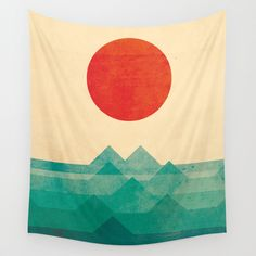 The ocean, the sea, the wave by Budi Satria Kwan #homedecor #tapestries