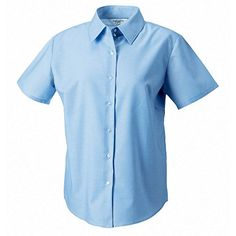 8d4ee725e RUSSELL COLLECTION LADIES SHORT SLEEVE OXFORD SHIRT (SIZE 8-26): Amazon.co. uk: Clothing