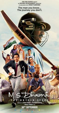 Directed by Neeraj Pandey. With Disha Patani, Anupam Kher, Sushant Singh Rajput, Kiara Advani. The untold story of Mahendra Singh Dhoni's journey from ticket collector to trophy collector - the world-cup-winning captain of the Indian Cricket Team. Telugu Movies Download, Hd Movies Download, Ms Dhoni Movie, Hindi Bollywood Movies, Ms Dhoni Wallpapers, Ms Dhoni Photos, Hindi Movies Online, Movie Sites, Musica