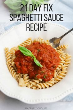 Today I have a great recipe to share with you. This healthy spaghetti sauce recipe is delicious. It's a 21 Day Fix spaghetti sauce so I can enjoy it without destroying my container counts for the day! Healthy Spaghetti Sauce   21 Day Fix Spaghetti Sauce  
