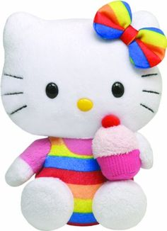 Ty Beanie Baby Hello Kitty - Cupcake