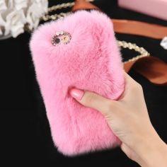 Coque Iphone Fourrure Mignonne Iphone 6 6 Plus 6S 6S Plus