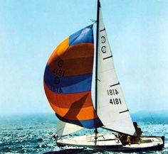 Dad's Cal 20 'Orion'....loved when the spinnaker went up...