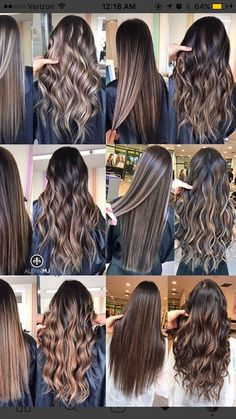 38 Ideas For Hair Balayage Brunette Gray Curling Wands Brown Hair Balayage, Hair Color Balayage, Hair Highlights, Balayage Highlights Brunette, How To Curl Your Hair, Light Hair, Cool Hair Color, Hair Colour, Brown Hair Colors
