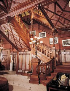 Entry stair, Mark Twain House ~ Hartford, CT