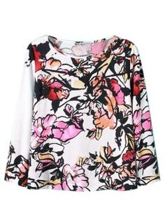 Multi Floral Long Sleeve T-shirt