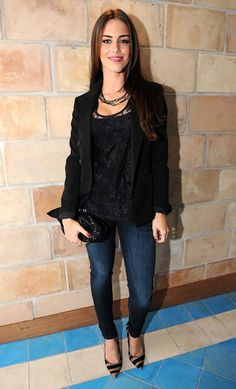 Jessica Lowndes wears James Jeans Twiggy in Celeste - Click now to steal her style!