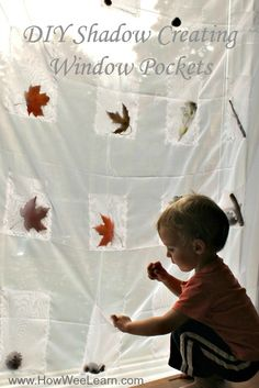 These shadow creating window pockets are so easy to make.  And amazing for learning about light and shadows!  Full tutorial with pictures.  www.HowWeeLearn.com