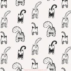 Cat Bum illustrated gift wrap