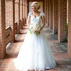 Gorgeous Cap Sleeve Wedding Dresses | Lace Sleeve Gown | SouthernLiving.com