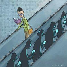 Você já leu um livro essa semana? (Mesmo que seja no celular ?)   #reflexão #comportamento #sociedade #tecnologia #tendências #educação #desenvolvimento #carreira
