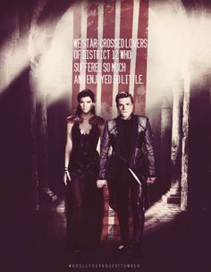 We star crossed lovers of District Twelve who suffered so much and enjoyed so little.