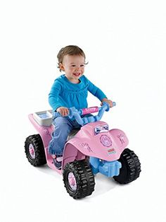 Fisher-Price Power Wheels Disney Princess Lil' Quad Battery-Powered Ride-On, Pink Kids Ride On Toys, Kids Toys, Barbie Power Wheels, Best Christmas Toys, Kids Christmas, Kids Jeep, Hobby Toys, Comic, Fisher Price