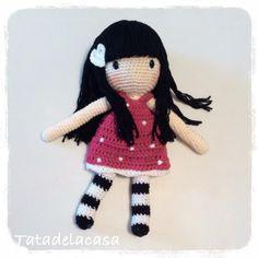 Muñeca a crochet inspiración Gorjuss