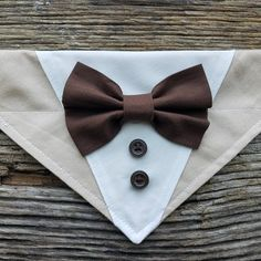Tuxedo dog bandana tan and dark brown bowtie bowtie over the collar - Tuxedo - Ideas of Tuxedo - Tan and brown dog tuxedo bandana Puppy Obedience Training, Training Your Dog, Dog Tuxedo, Pet Dogs, Pets, Baby Dogs, Dog Clothes Patterns, Fluffy Dogs, Dog Crafts