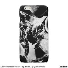 Beautiful Cowboy iPhone 6 Case By Artist RjFxx Winner of 233 Art Awards. Black and White Fine Art Drawing of Cowboy printed on iPhone 6 Case. Very fast shipping Worldwide. Money Back Guarantee. $40.65