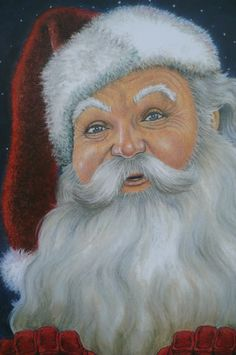Santa Claus -Pastel orginal art piece by Mary Clare.   www.maryclaresartwork.com
