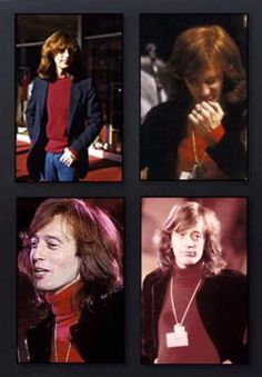 Robin looks so good in the red turtleneck! Les Bee Gees, Red Turtleneck, Andy Gibb, Normal Life, S Pic, Music Love, Rock N Roll, Make Me Smile, Superstar