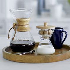 Free Shipping. Shop Chemex Cream and Sugar Set. Iconic Chemex style and functionality take this coffee condiment server to a new level of fun sophistication.