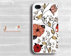 iphone case iphone 4s case iphone 4 cover red flower illustion style colorized flower unique Iphone case. $13.99, via Etsy.