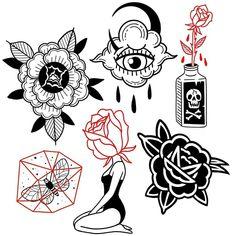 Excellent simple ideas for your inspiration Mini Tattoos, Black Tattoos, Body Art Tattoos, Small Tattoos, Sleeve Tattoos, Flash Art Tattoos, Desenhos Old School, Stammestattoo Designs, Graffiti