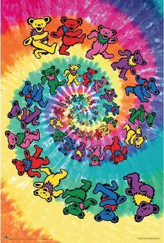 Grateful Dead - Spiral Bear - Poster