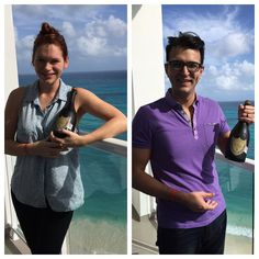A little toast to 2016... What you didn't see are the plastic cups and us sitting on the balcony doing a little toast by the sea!  #vadenfamily