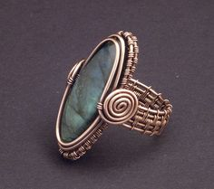 Copper Labradorite Ring by WiredElements.deviantart.com on @deviantART