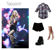 """""""Get The Look - Taeyeon (Girls Generation)"""" by valmianna ❤ liked on Polyvore featuring Hue, Abercrombie & Fitch, Andrew Gn and Bamboo"""