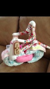 Baby Shower Diaper Motorcycle - easy instructions