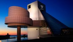Rock and Roll Hall of Fame and Museum, Cleveland, Ohio What A Wonderful World, Wonderful Places, Rockefeller Center, Wall Street, Ohio Tourist Attractions, Times Square, Costa, Only In America, Butterfly House