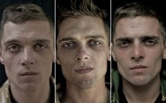 Photographer Lalage Snow photographed soldiers' faces before, during and after serving in Afghanistan.